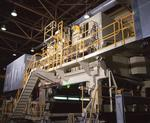 Ontario: Thunder Bay- drying chamber of new paper machine in a fine papers mill