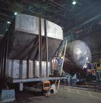 Ontario: Oakville- hopper and tank cars being built at railway rolling stock factory