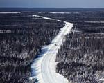 Ontario: Timmins area - road carved through the bush runs from Timmins to Detour Lake