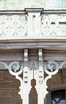 detail of porch and treillage
