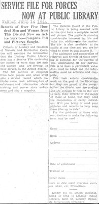 Service File for Forces Now at Public Library