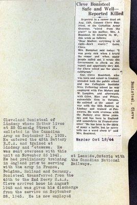 Page 35: Bonisteel, Cleveland