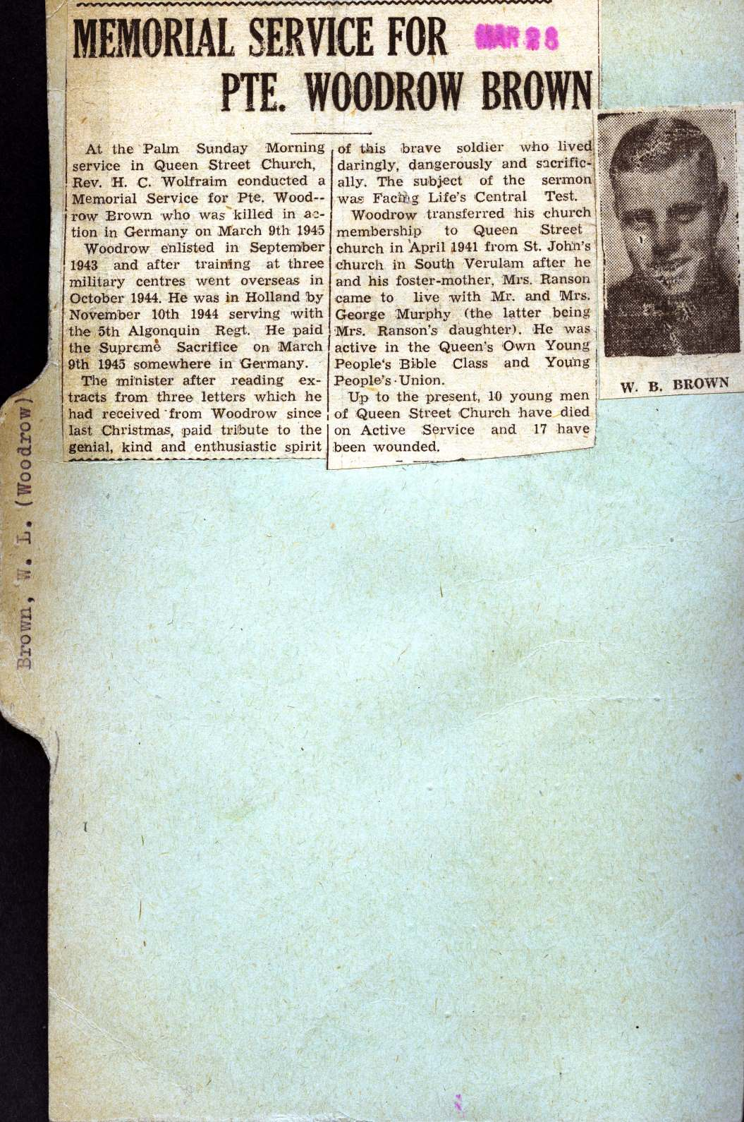 Page 146: Brown, Woodrow Beverley