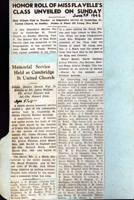 Page 10: Cambridge St. United Church Honour Roll
