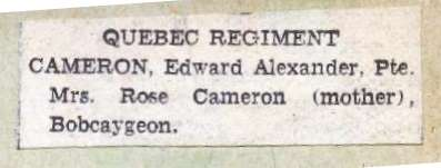 Pages 13-14: Cameron, George A.