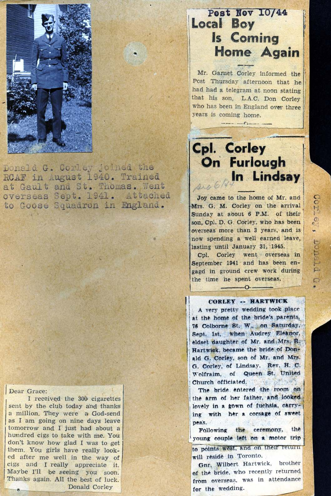 Pages 143-144: Corley, Donald G.
