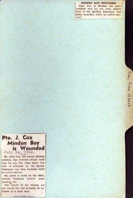 Pages 181-182: Cox, John Albert