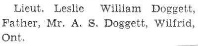 Page 97: Doggett, Leslie William