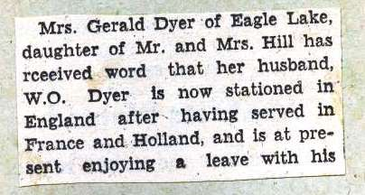 Page 133: Dyer, W. O.