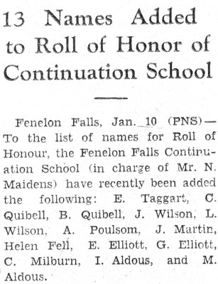 Fenelon Falls Continuation School