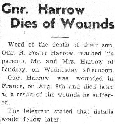Harrow, H.F.