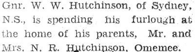 Hutchinson, W.