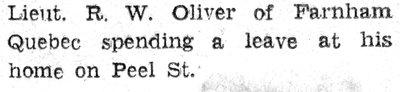 Oliver, R.W.