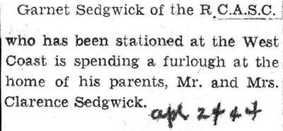 Sedfwick, G.