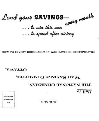 War Savings Certificates