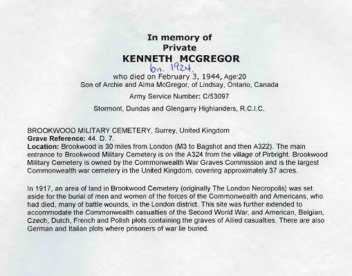 McGregor, Kenneth