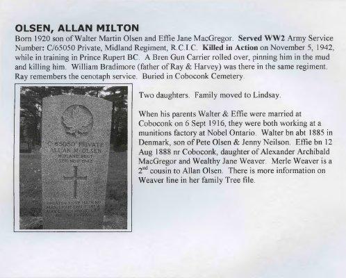 Olsen, Allan Milton