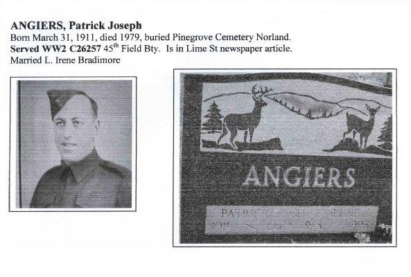 Page 115: Angiers, Patrick Joseph