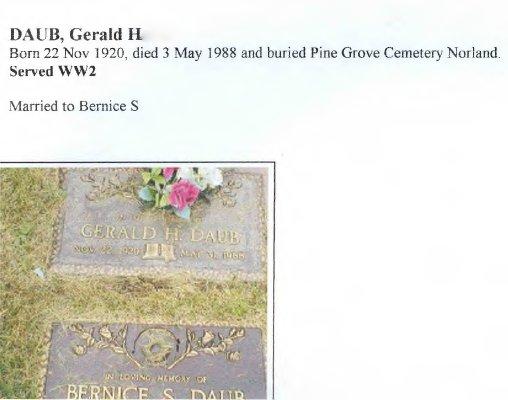 Page 196: Daub, Gerald Harry