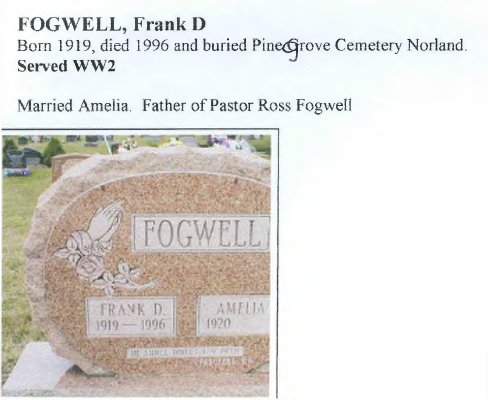 Page 219: Fogwell, Frank D.