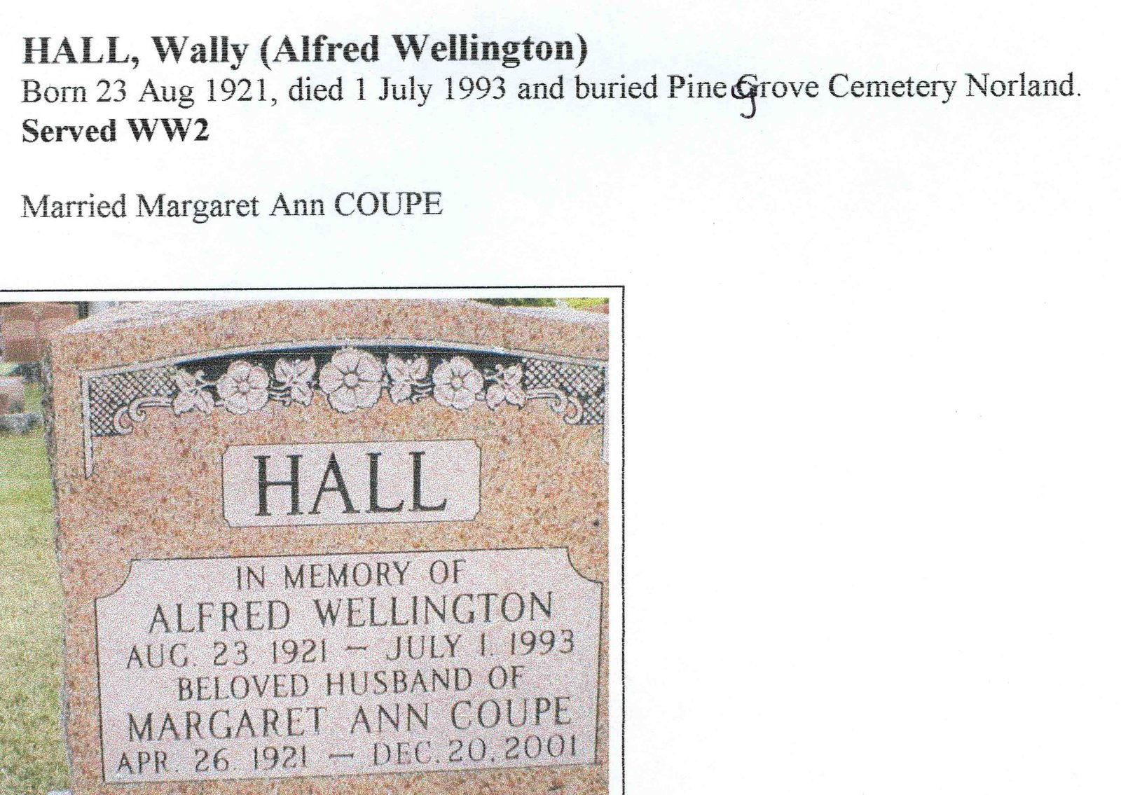 Page 233: Hall, Alfred Wellington