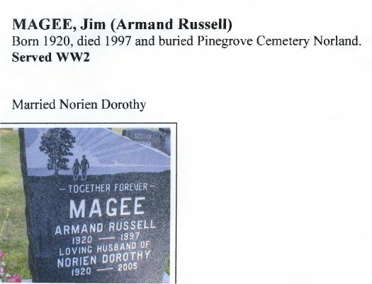 Page 257: Magee, Armand Russell
