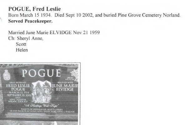 Page 298: Pogue, Fred Leslie
