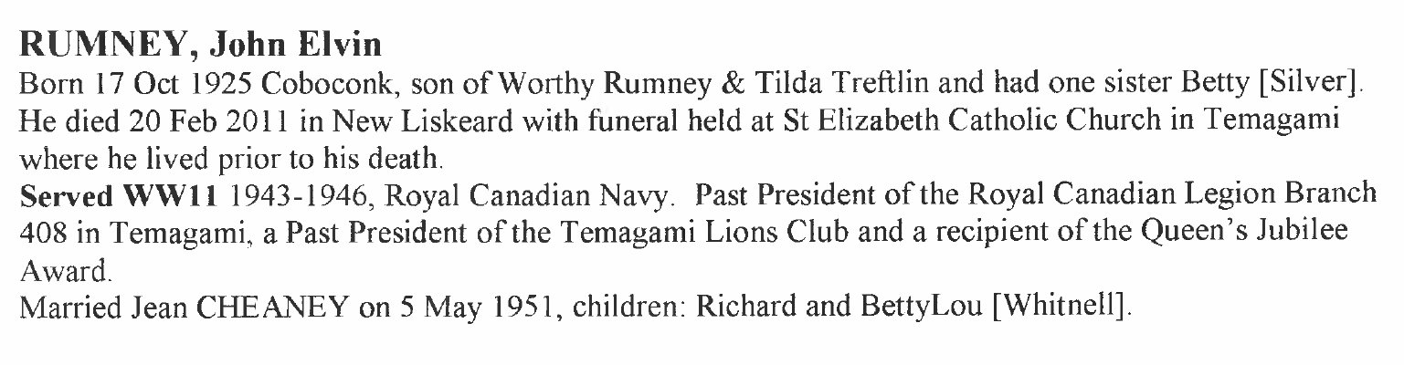 Page 309: Rumney, John Elton