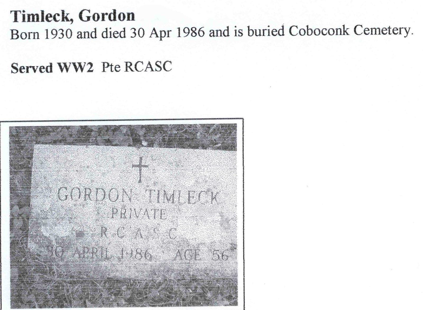 Page 345: Timleck, Gordon Alexander
