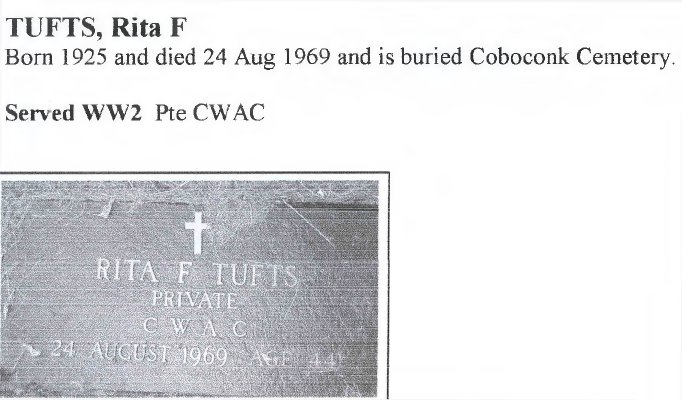Page 352: Tufts, Rita F.
