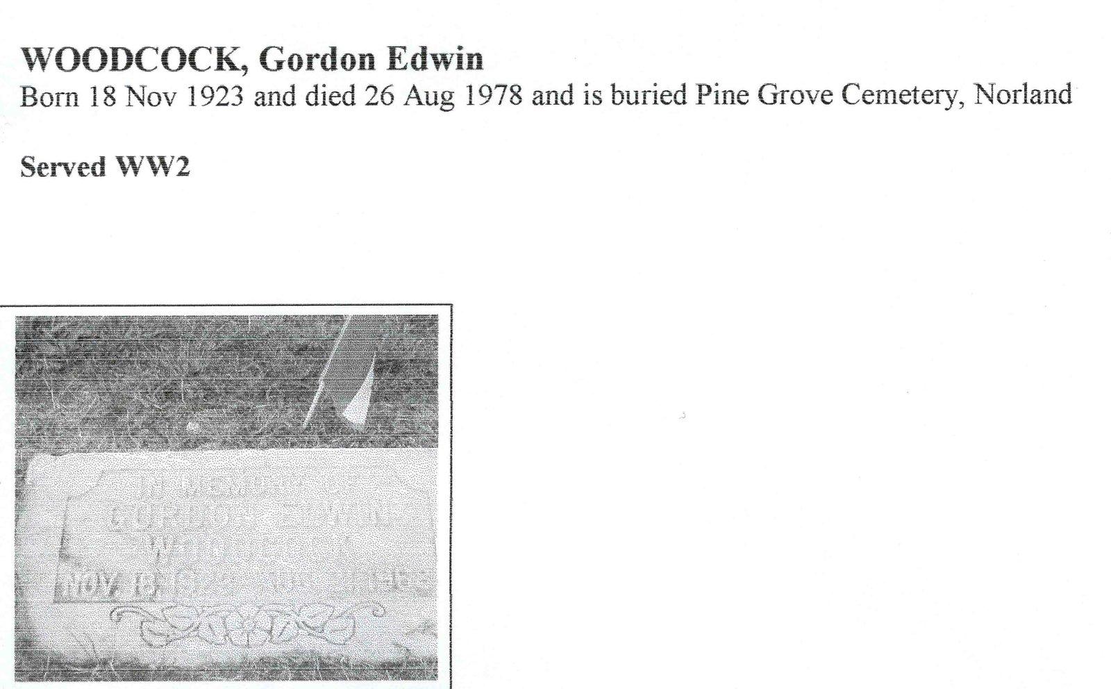 Page 386: Woodcock, Gordon Edwin