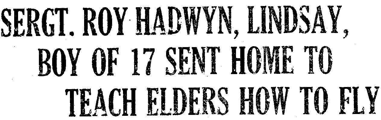 Hadwyn, R.