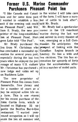 Former U.S. Marine Commander purchases Pleasant Point Inn - 1 May 1964