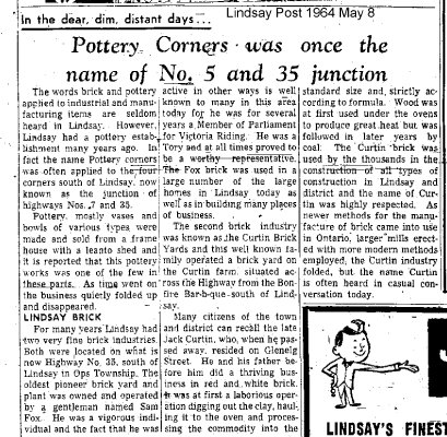 Pottery Corners was once the name of No. 5 and 35 junction - 8 May 1964