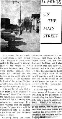 On the Main Street - 15 February 1965