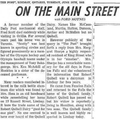 On the Main Street - 15 June 1965