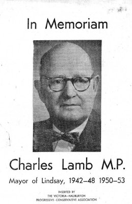 In Memoriam, Charles Lamb - 14 July 1965