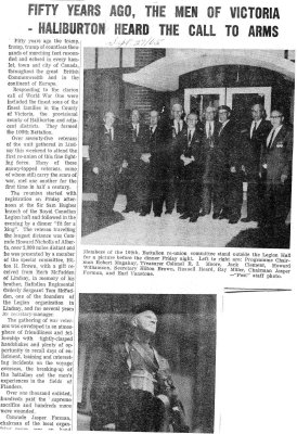 Fifty years ago, the men of Victoria - Haliburton heard the call to arms - 27 September 1965