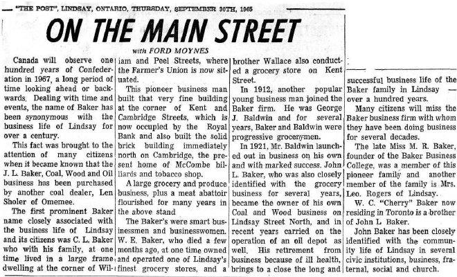 On the Main Street - 30 September 1965