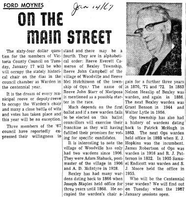 On the Main Street - 14 January 1967