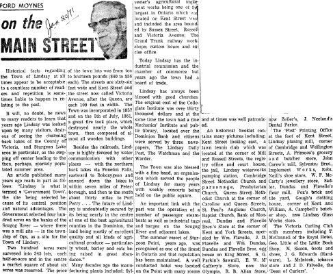 On the Main Street - 20 January 1971