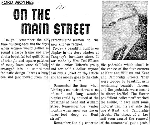 On the Main Street - 17 March 1967