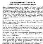 An Outstanding Kiwanian - March 1968