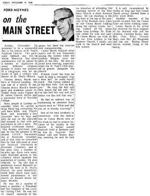 On the Main Street - 19 November 1968