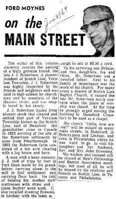 On the Main Street - 8 January 1969