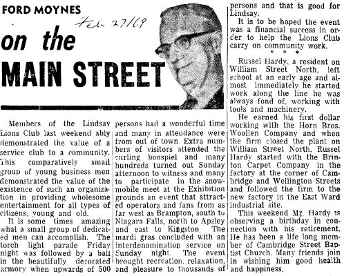 On the Main Street - 27 February 1969