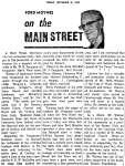 On the Main Street - 19 September 1969