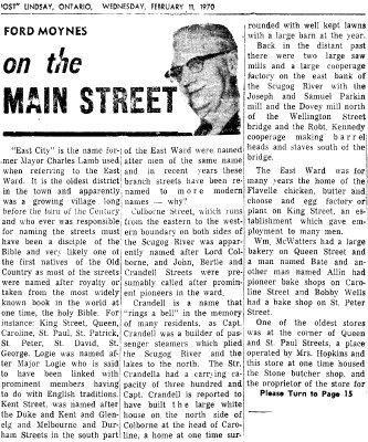 On the Main Street - 11 February 1970