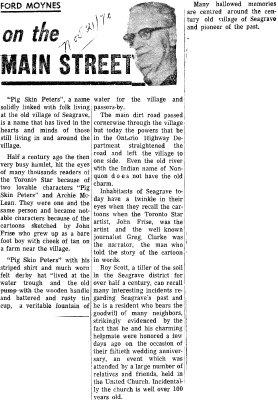 On the Main Street - 21 November 1970