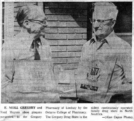 E. Neill Gregory and Ford Moynes (photo) - 12 June 1971